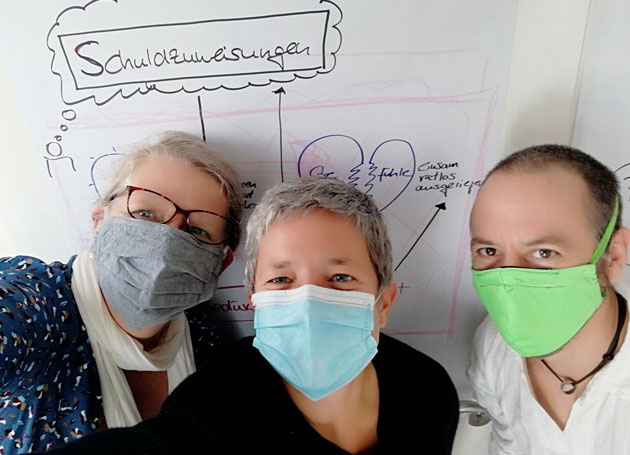 Corona Gesicht Maske Schuldzuweisung Chris Paul Trauerinstitut Deutschland